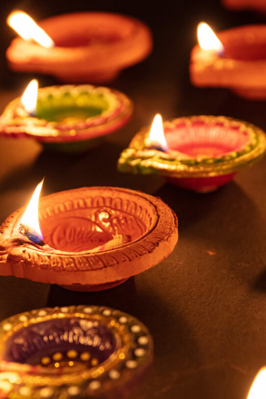 Diyas for Diwali in India