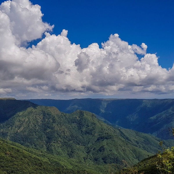 mountains and clouds in Shillong, India